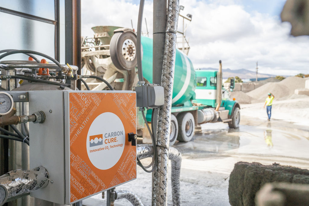 CarbonCure equipment with truck in background